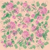 Предпосылка иллюстрации флористическая Абстрактный вектор Стоковые Изображения