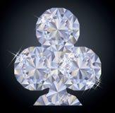 Предпосылка казино с элементом покера диаманта клубов Стоковые Фото