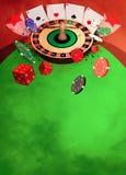 Предпосылка казино Стоковые Изображения