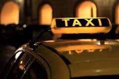 предпосылка как может подписать пользу таксомотора Стоковая Фотография RF