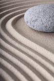 Предпосылка камня раздумья курорта сада Дзэн Стоковая Фотография RF
