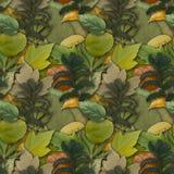 Предпосылка камуфлирования безшовная с естественной листвой Стоковое Изображение