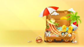 Предпосылка каникул пляжа иллюстрация вектора