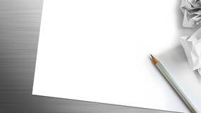 Предпосылка карандаша и бумаги Стоковые Изображения