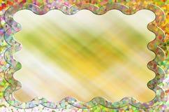 Предпосылка картинной рамки сладостной влюбленности пастельная пустая Стоковые Изображения RF