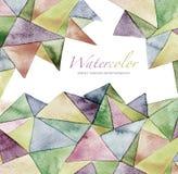 Предпосылка картины абстрактной акварели геометрическая Стоковое Фото
