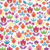 Предпосылка картины абстрактных тюльпанов безшовная Стоковое фото RF