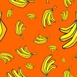 Предпосылка картины бананов безшовная Стоковое Изображение RF