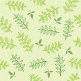 Предпосылка картины вектора безшовная с листьями Стоковое фото RF