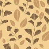 Предпосылка картины ветвей листьев безшовная также вектор иллюстрации притяжки corel Стоковые Изображения