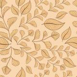 Предпосылка картины ветвей листьев безшовная также вектор иллюстрации притяжки corel Стоковые Фото