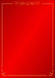Предпосылка картины винтажной рамки красная орнаментальная Стоковая Фотография RF