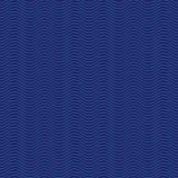 Предпосылка картины волн вектора запаса голубая безшовная Стоковое Изображение