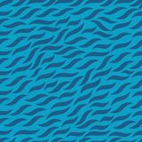Предпосылка картины голубой волны безшовная Стоковые Фото
