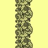 Предпосылка картины ленты шнурка безшовная Стоковая Фотография