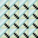 Предпосылка картины заплатки декоративная безшовная с яркими элементами Стоковая Фотография RF