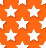 Предпосылка картины звезды белой бумаги безшовная Стоковое Фото