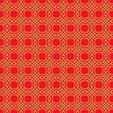 Предпосылка картины золотого безшовного китайского полигона решетки tracery окна круглая Стоковые Фото