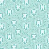 Предпосылка картины здоровых зубов безшовная Стоковые Фото