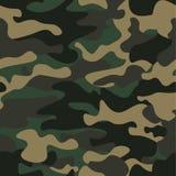 Предпосылка картины камуфлирования безшовная Печать повторения camo классического стиля одежды маскируя Зеленые коричневые цвета  Стоковая Фотография RF