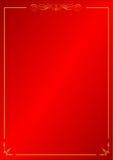 Предпосылка картины красной винтажной рамки орнаментальная Стоковое фото RF