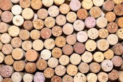 Предпосылка картины крупного плана много различных пробочек вина Стоковая Фотография