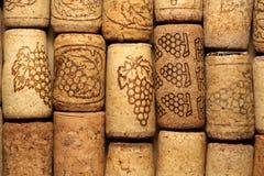 Предпосылка картины крупного плана много различных пробочек вина Стоковые Фото