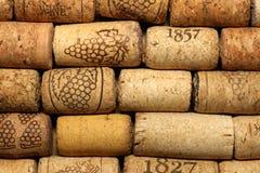 Предпосылка картины крупного плана много различных пробочек вина Стоковое Фото