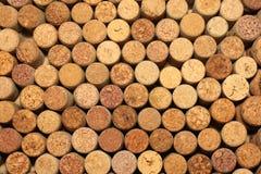Предпосылка картины крупного плана много различных пробочек вина Стоковые Изображения RF