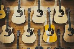 Предпосылка картины классических гитар Стоковое фото RF