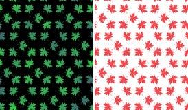 Предпосылка картины кленовых листов безшовная Стоковое Изображение RF