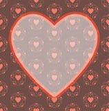 Предпосылка картины рамки сердца дня валентинки красная Стоковые Изображения RF