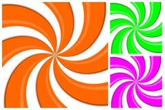 Предпосылка картины свирли, спиральная линия влияние 3 красит иллюстрацию вектора Стоковое Изображение