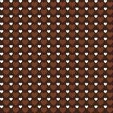 Предпосылка картины сердец влюбленности вектора коричневая Бесплатная Иллюстрация