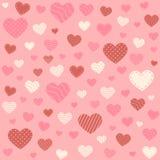 Предпосылка картины сердец розовая Стоковое фото RF