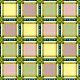 Предпосылка картины текстуры безшовной ретро ткани checkered Стоковое фото RF