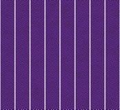 Предпосылка картины ткани пурпура и белизны текстурированная зигзагом Стоковые Фотографии RF