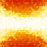 Предпосылка картины треугольника градиента лета оранжевая Стоковое фото RF