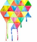 Предпосылка картины треугольника Стоковое Изображение