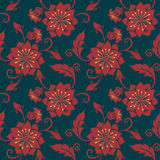 Предпосылка картины цветка вектора безшовная Элегантная текстура для предпосылок Классическое роскошное старомодное флористическо иллюстрация штока