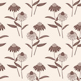 Предпосылка картины цветка вектора безшовная Элегантная текстура для предпосылок Классическое роскошное старомодное флористическо иллюстрация вектора