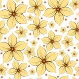 Предпосылка картины цветков безшовная стоковая фотография