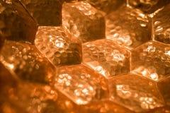 Предпосылка картины шестиугольника золота Стоковая Фотография