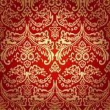 Предпосылка картины штофа винтажная флористическая безшовная. Стоковая Фотография