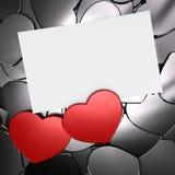 Предпосылка карточки влюбленности Стоковые Изображения RF