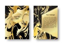 Предпосылка карточки мраморная Стоковое Изображение
