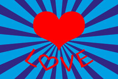 Предпосылка карточки дня ` s валентинки с надписью влюбленности Стоковые Фото