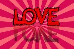 Предпосылка карточки дня ` s валентинки с надписью влюбленности Стоковая Фотография