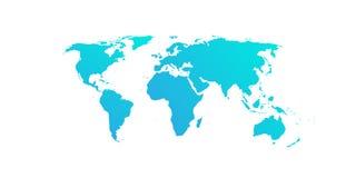Предпосылка карты мира бирюзы Стоковое фото RF