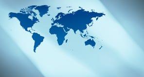Предпосылка карты мира голубого плана футуристическая Стоковая Фотография